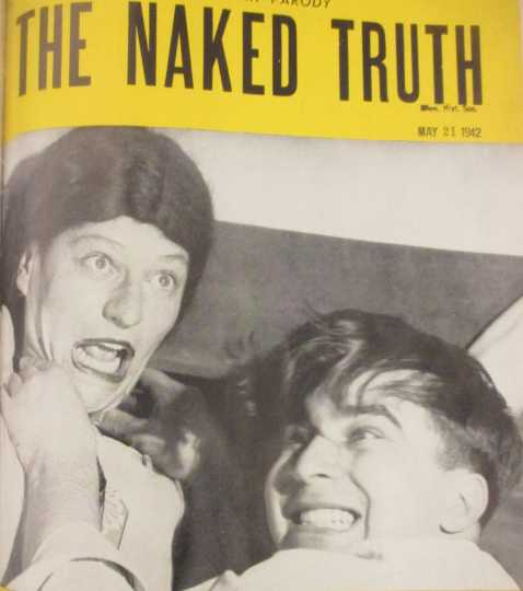 Max Shulman, at right, on the cover of the University of Minnesota's humor magazine Ski-U-Mah, 1942. From a 1942 issue of Ski-U-Mah, available on microfilm at the Minnesota Historical Society.