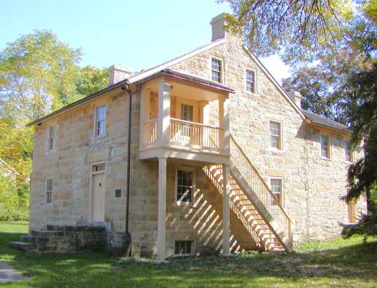 Color image of Sibley House Historic Site, 2014.