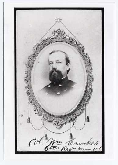 William Crooks, Colonel, Sixth Minnesota Infantry.