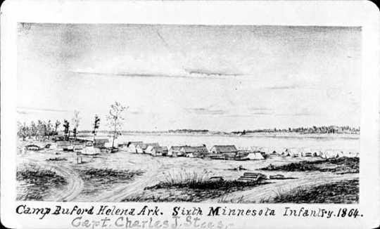 Camp Buford, Helena, Ark. Sixth Minnesota Infantry