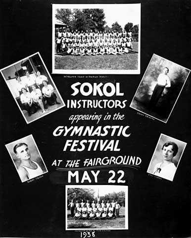 Poster for Sokol gymnastics festival