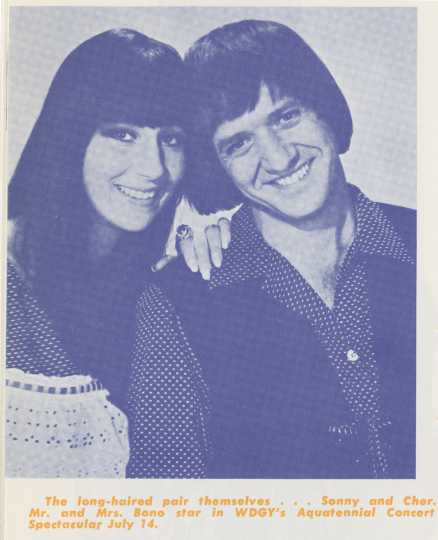 Sonny And Cher Aquatennial concert advertisement, 1967