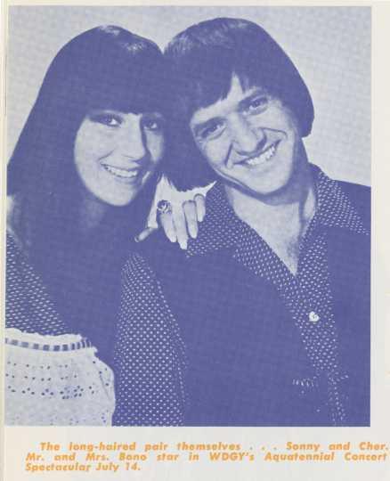 Sonny And Cher Aquatennial concert advertisement, 1967