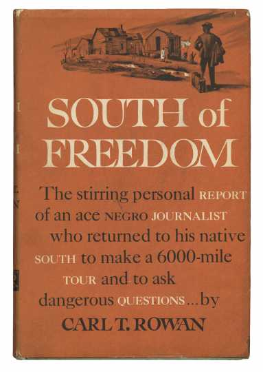 The cover of Carl Rowan's book South of Freedom (Alfred A. Knopf, 1952).