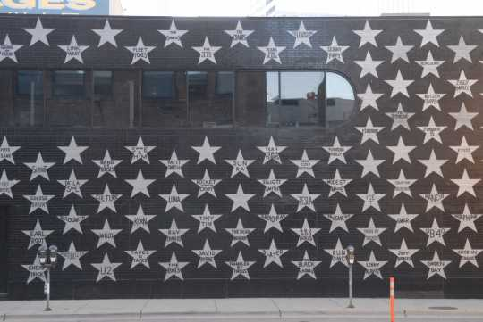 Color image of Stars on the exterior wall of First Avenue. Photograph by Daniel Corrigan.