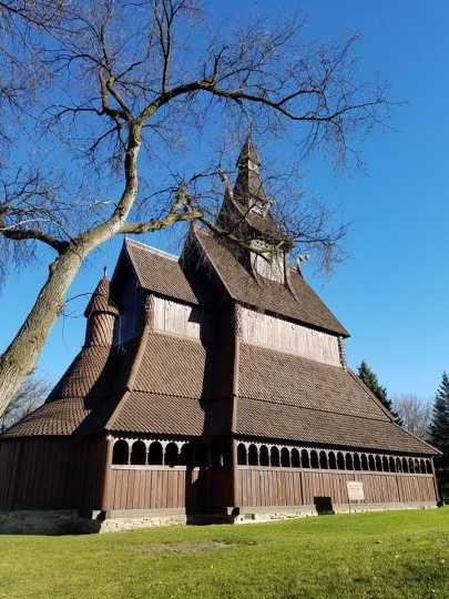 Hopperstad Stave Church replica, side view