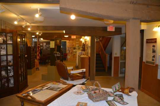 Color image of the Stickney Inn and Store, basement, facing east, July 2014. Photographed by Amy Lucas.