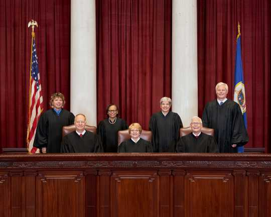 Minnesota Supreme Court justices, 2018.
