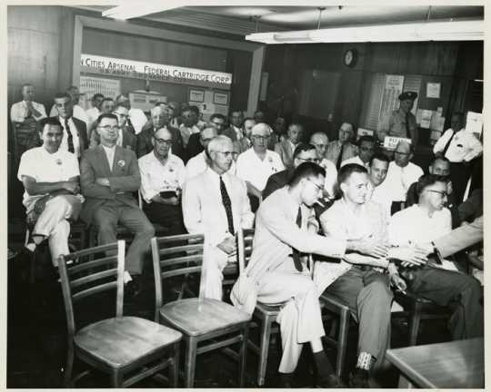Employee meeting at the Twin Cities Arsenal