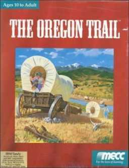 Cover art of the Oregon Trail twenty-fifth anniversary edition, 1996.