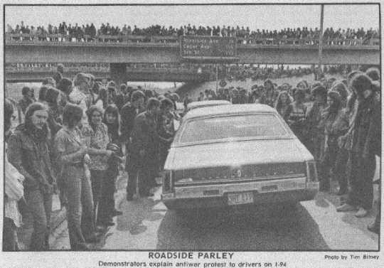 Blockade of Interstate 94
