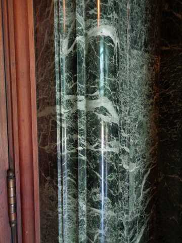 Color image of Tinos marble from Greece inside the north vestibule of the Cathedral of St. Paul. Photographed by Paul Nelson on July 16, 2014.