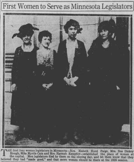 Minnesota's first four female legislators