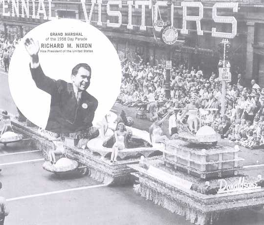 Promotional material for Richard Nixon, Aquatennial 1958
