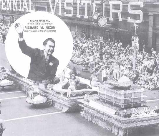 Promotional material for Richard Nixon, Aquatennial 1958