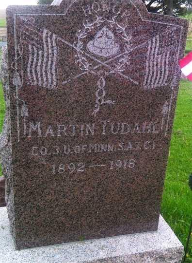 Grave of Private Martin Tudahl