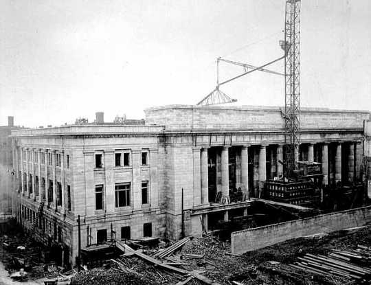 St. Paul Union Depot construction.