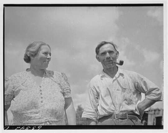 FSA (Farm Security Administration) borrower and wife. Cut-over area of Itasca County, Minnesota