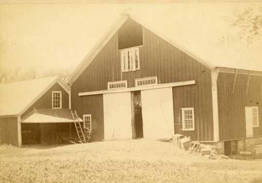 Veblen barn, Nerstrand, Minnesota, ca. 1890.