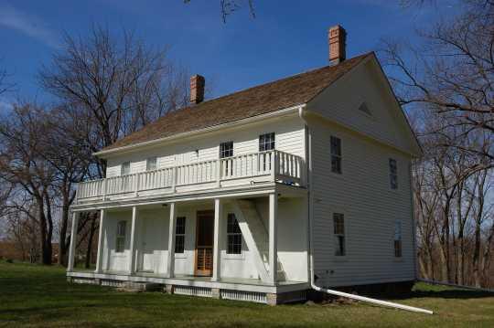 Exterior side view of the Thorstein Veblen home, Nerstrand, Minnesota, ca. 2011.