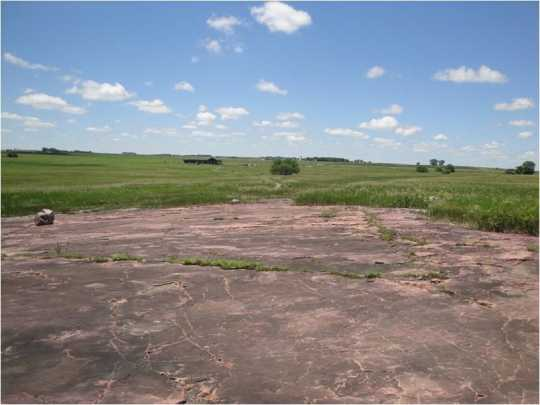 Looking west from the outcrop at Jeffers Petroglyphs