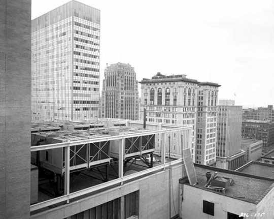 View of downtown Minneapolis, First National Soo Line Building