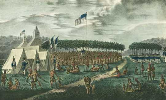 Treaty council at Prairie du Chien