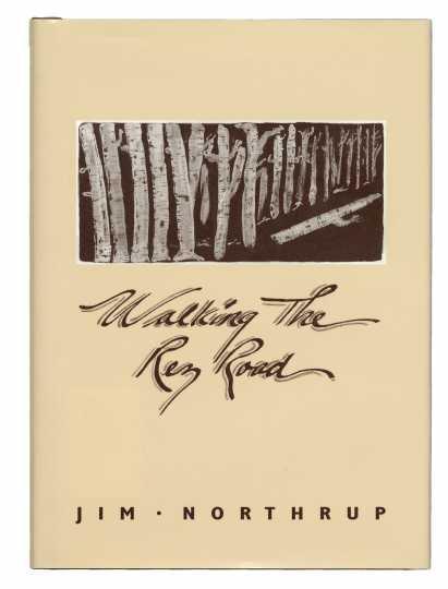 Cover art of Walking the Rez Road (Voyageur Press, 1993), by Jim Northrup.
