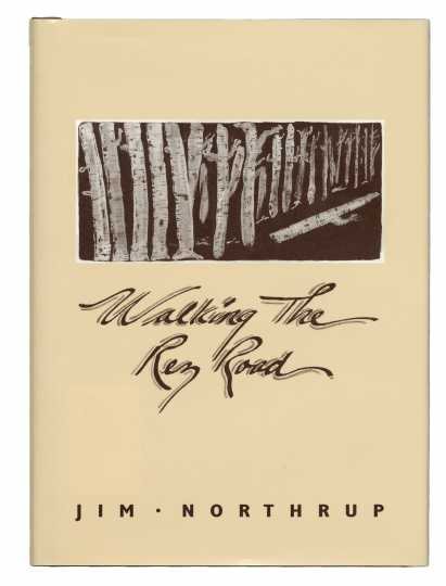 Cover art of Walking the Rez Road (Voyageur Press, 1993), by Jim Northrup.