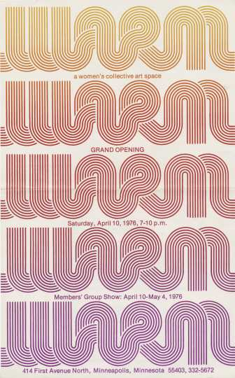 WARM Gallery inaugural exhibition poster