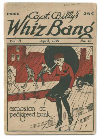 Front cover of the April 1921 issue of Captain Billy's Whiz Bang.