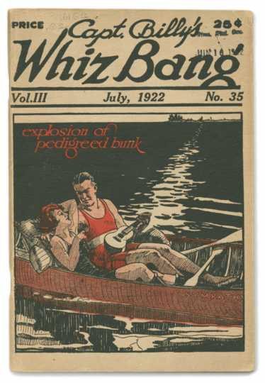 Front cover of the July 1922 issue of <em>Captain Billy's Whiz Bang</em>.