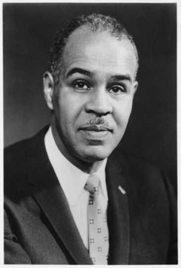 Portrait photograph of Roy Wilkins