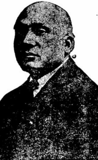 Black and white newspaper image of William R. Morris, c.1919.