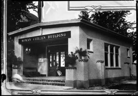 Woman Citizen Building