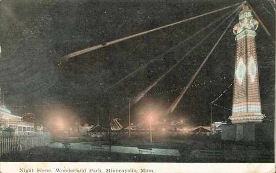 Night scene, Wonderland Park, Minneapolis.