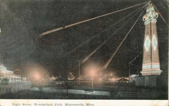 Night scene, Wonderland Park, Minneapolis.