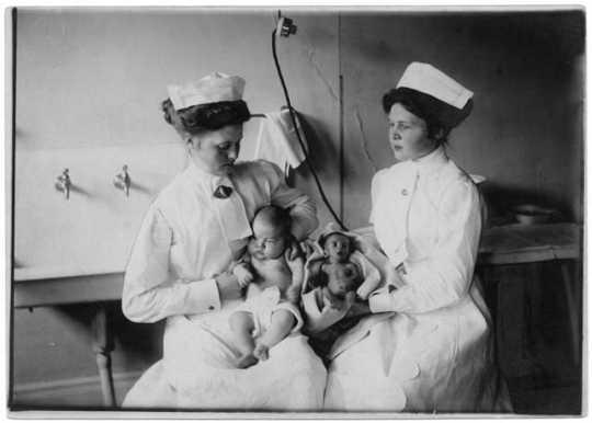 Premature infants who were kept in incubators at Wonderland Park, Minneapolis.