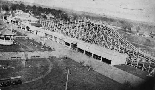 Roller coaster, Wonderland Amusement Park, Minneapolis.