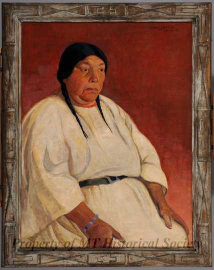 Color image of Mrs. Star, oil-on-canvas painting by Elsa Jemne, 1926.