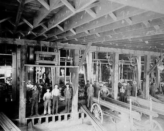 Interior of a sawmill