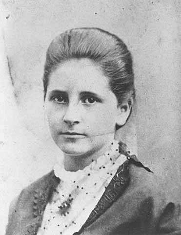 Photograph of Clara Ueland, ca. 1890.