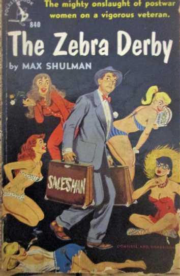 Cover of Max Shulman's Zebra Derby (Doubleday, 1946).
