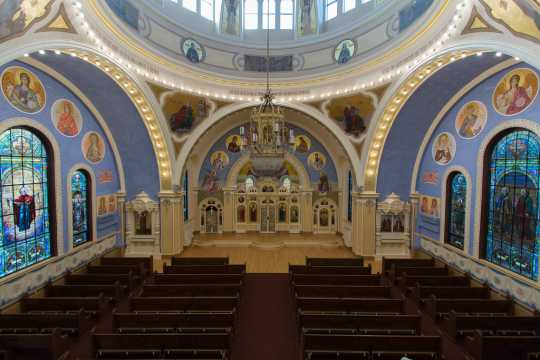 Color image of the sanctuary of St. Mary's Cathedral after renovation, 2015.