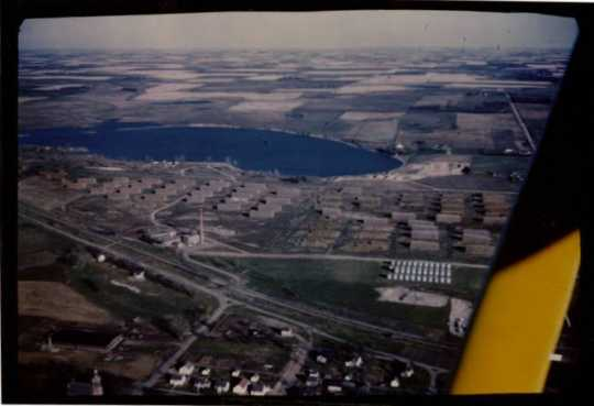 Aerial view of Schweitzer Flax Plant, 1947