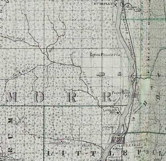 Map of Morrison County, c.1874.