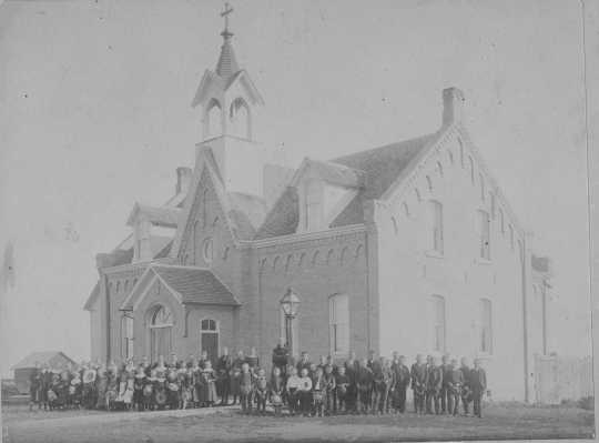 Photograph of St. Joseph's Parochial School c.1880.