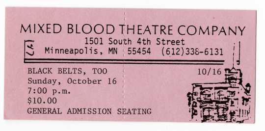 "Ticket for ""Black Belts, Too"""