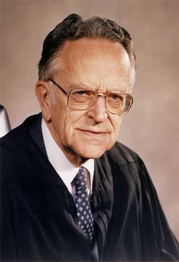 Color official judicial portrait of Harry Blackmun, ca. 1975.