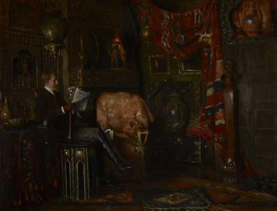 """Portrait of John Scott Bradstreet,"" c.1890. Oil on canvas painting by Douglas Volk."